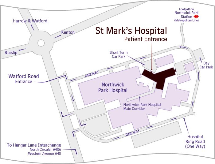 St-Mark's-Hospital-Map