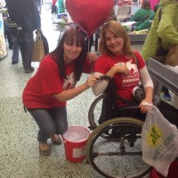 Helen Hill with Fundraiser at a Tesco Collection