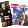 Amanda Scott shows off her Liverpool Half Marathon Medal for St. Mark's, brilliant effort!